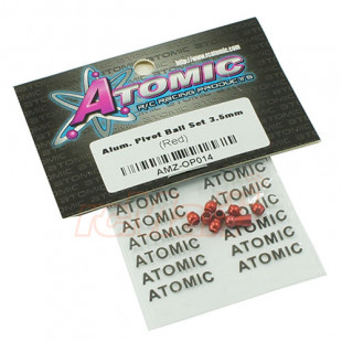 Atomic ATOMIC AMZ Aluminum Pivot Ball Set Red