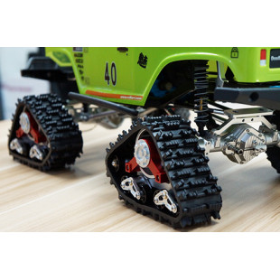 Xtra Speed Tanky All Terrain Tracks 1 Pair Blue For AXIAL SCX10 WRAITH