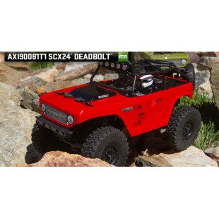 Axial SCX24 Deadbolt Red Edition 1/24 4WD RTR Mini Crawler w/ 2.4GHz Radio