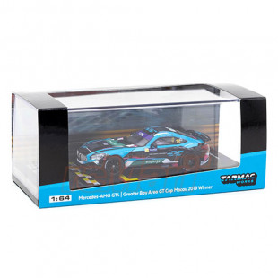 Tarmac Works 1/64 Mercedes-AMG GT4 Greater Bay Area GT Cup Macau 2019 Winner Diecast Scale Model Car