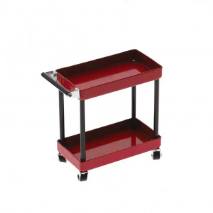 Yeah Racing 1/10 RC Accessory 2-Tiered Rolling Metal Handy Cart Red