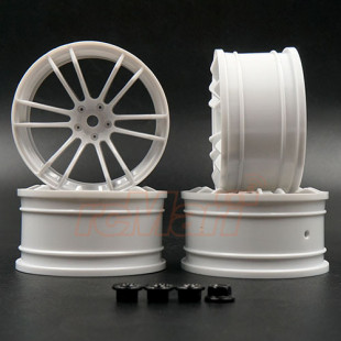 MST +5 Offset TSP High Traction Rim White 4 pcs For 1/10 RC Drift