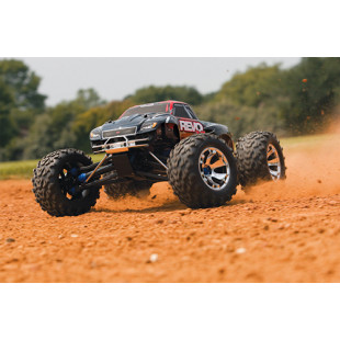 Traxxas Nitro Revo 3.3 1/10 RTR 4WD Monster Truck Red Edition w/ 2.4Ghz Radio, TSM & DC Charger