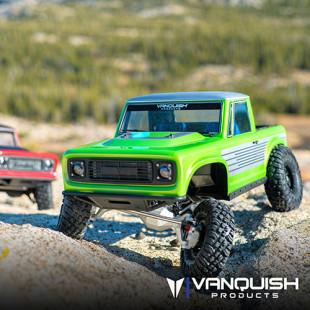 Vanquish VS4-10 Ultra Rock Crawler Kit Silver w/ Origin Half Cab Body