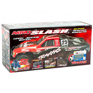 Traxxas Nitro Slash 3.3 Mark Jenkins Edition 1/10 RTR 2WD Short Course Truck w/ TQ 2.4GHz Radio, TSM & DC Charger