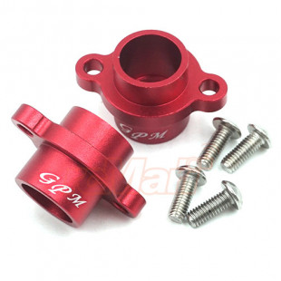 GPM Racing Aluminum Rear Axle Adapters 2 pcs Red For Tamiya T3-01