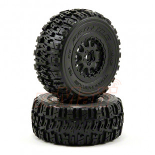 Pro-Line Trencher X SC 2.2in/3.0in M2 (Medium) Tires Mounted on Renegade Blk Wheels (2) for Slash® 2wd Re & 4x4 Fr