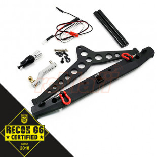 Yeah Racing Alu Alloy Rear Bumper w/LED Light Spare Tire Mount For SCX10 II TRAXXAS TRX-4 'G6 Certified'  (Free Ship)