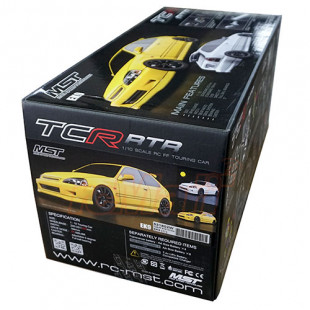 MST TCR-FF 257mm EK9 White Body Version ARTR 1/10 RC Touring Car w/ 2.4GHz Radio