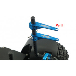Yeah Racing High Down Force Superior Body Post VER.II for RC Car (2pcs) (Blue)