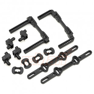 Traxxas 4-Tec 2.0 Front Rear Body Mount Posts & Slider Set Black