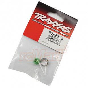 Traxxas Aluminum Bearing Adapter Set Green w/ 10x15x4mm Ball Bearing