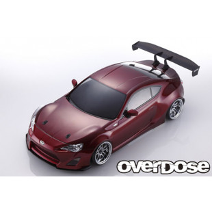 Overdose Scion Weld FR-S High Detail Clear Body Set w/ Light Bucket Rear Wing Toyota 86 For 1/10 RC Drift