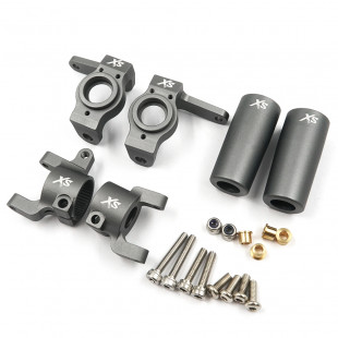 Xtra Speed Aluminum Upgrade Combo Set For Axial SCX10 II Gunmetal