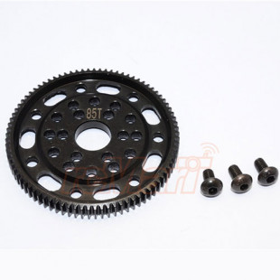GPM Racing Steel#45 Spur Gear 48P 85T Black For Axial SCX10 Wraith