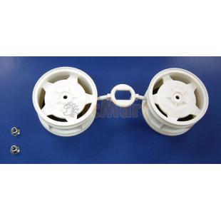 Tamiya 6024 4WD Front Star-Dish Wheels (1 Pair)