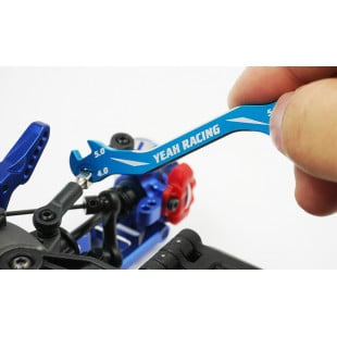 Yeah Racing Aluminum 7075 Turnbuckle Wrench 3mm 4mm 5mm 5.5mm Blue