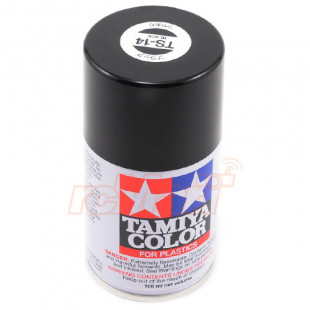 Tamiya TS14 Black Lacquer Spray Paint (100ml)