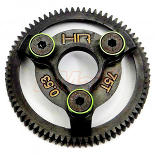 Hot Racing Hardened Steel 48P 75T Spur Gear Set w/ Green Washer For Traxxas Slash 2WD Rustler Stampede Telluride