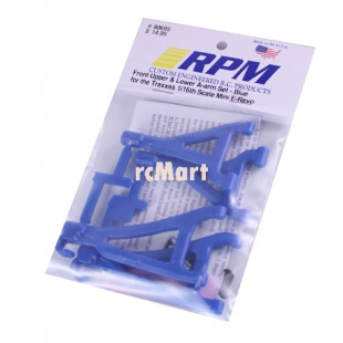RPM Front Upper Lower Suspension A arms Blue for Traxxas 1/16 E-Revo