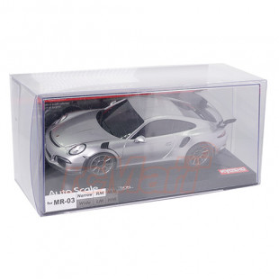 Kyosho A.S.C. Porsche 911 GT3 RS Silver Version Painted Body For Mini-Z MR-03N-RM