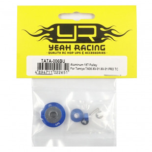 Yeah Racing Aluminum 18T Pulley For Tamiya TA06 XV-01 PRO TC