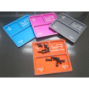 Yeah Racing 2 In 1 Aluminum Camber Gauge Tray 1.0 1.5 2 Angles Orange For 1/10