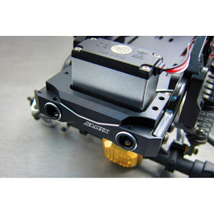 Samix Aluminum Front Bumper Mount Black w/ Adjustable Servo Mount For Element Enduro