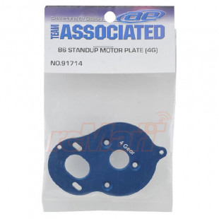 Team Associated RC10B6 Aluminum Stand-Up 4 Gear Motor Plate Blue