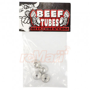 Beef Tubes Aluminum Beef Tips Shock Spring Retainers 4 pcs Silver For Traxxas TRX-4