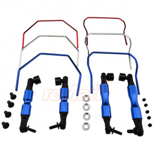Hot Racing Front Rear Sway Bar Set Blue For Traxxas 1/10 Rally Slash 4x4