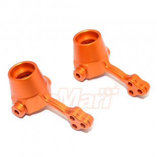 GPM Racing Aluminum Front Knuckle Arm 1 pr Orange For Gmade R1