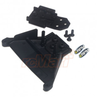 RPM Front Bulkhead Black For TRAXXAS Slash Rally LCG 4x4 Chassis