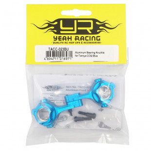 Yeah Racing Aluminum Steering Knuckle for Tamiya CC02 Blue