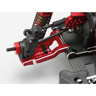 Yokomo YD-2 Aluminum Adjustable Bevel Edge Rear Short H-Arm Set Red
