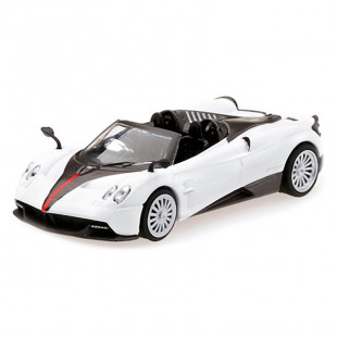 Mini GT 1/64 Pagani Huayra Roadester White RHD Hong Kong Exclusives Diecast Scale Model Car