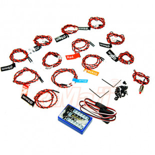 Xtra Speed 12 LED RC Car Flashing Light System For 1/10 1/8