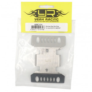 Yeah Racing Stainless Steel Skid Plate For Axial SCX10 III AXI03007