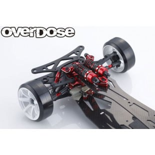 Overdose GALM Ver.2 10th Anniversary Red Limited Edition 1/10 RWD IFS High Performance Drift Chassis Kit w/ Option Parts