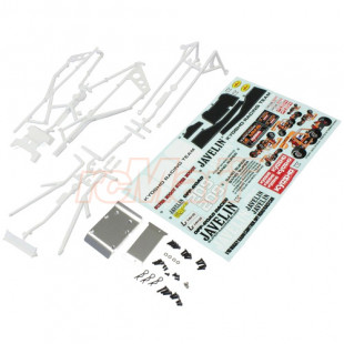 Kyosho Javelin Roll Cage Body Set White w/ Decal