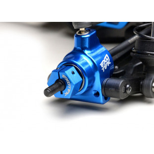 Exotek Racing Aluminum Rear Clamping Hex 2 pcs Blue For Team Associated DR10