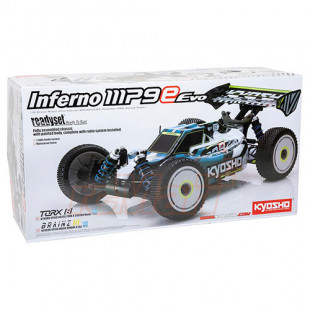Kyosho 1/8 INFERNO MP9e Evo. Black 4WD Buggy RTR Readyset EP w/2.4GHz Radio