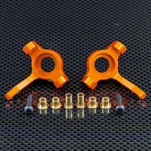 GPM Racing Aluminum Front Knuckle Arm 1PR Set Orange For Axial SCX10  (Free Shipping)