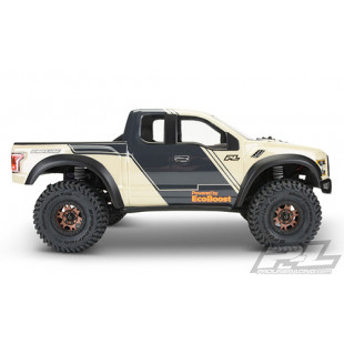Pro-Line 2017 Ford® F-150 Raptor Clear Body Set For Axial SCX10 SCX10 II 313mm Wheelbase Crawler