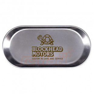 Blockhead Motors Stainless Steel 6.1 inch x 4.9 inch Parts Tray Version 2