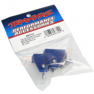 Traxxas Trim Tab Adjuster Set Aluminum Blue for Spartan